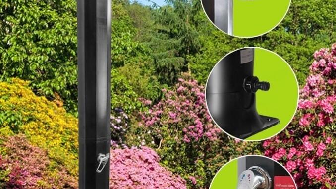 Auch eine Solardusche ist zum richtigen Duschen mit einer Duschbrause ausgestattet. - Foto: Produktbild Amazon.de